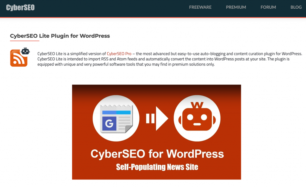 CyberSEO Lite RSS Plugin