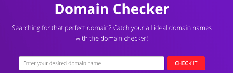 Domain checker tool