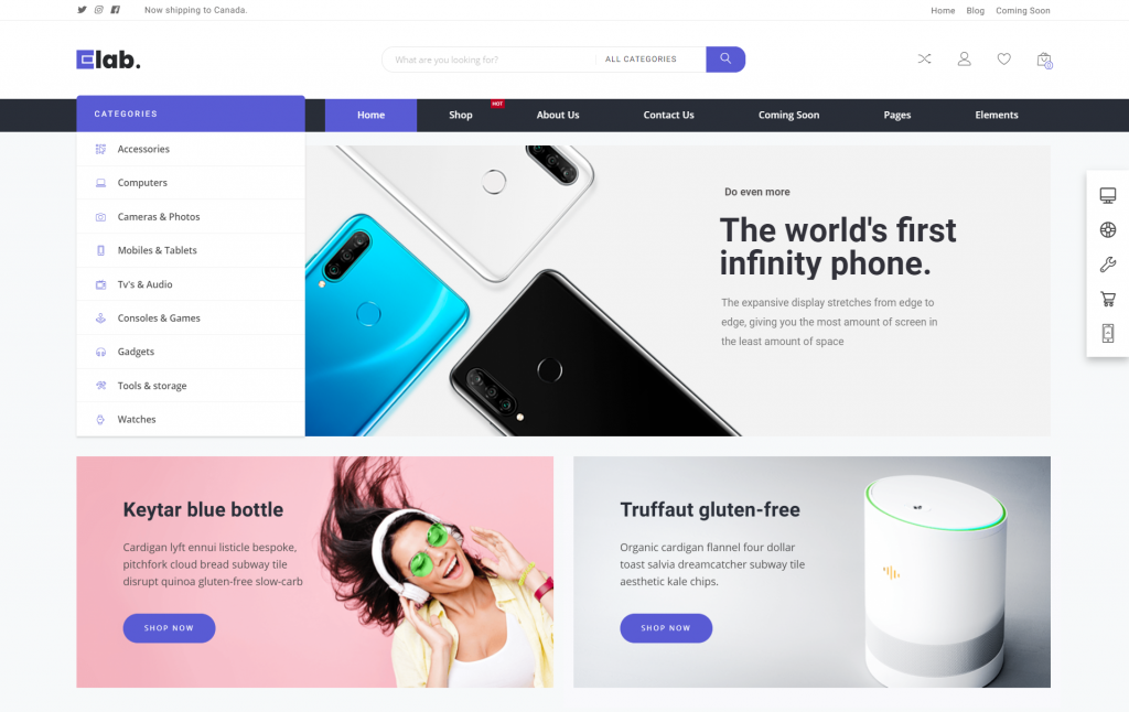 elab WordPress eCommerce Theme
