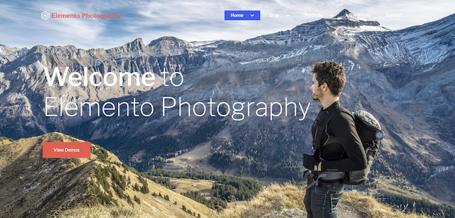 elemento photography theme