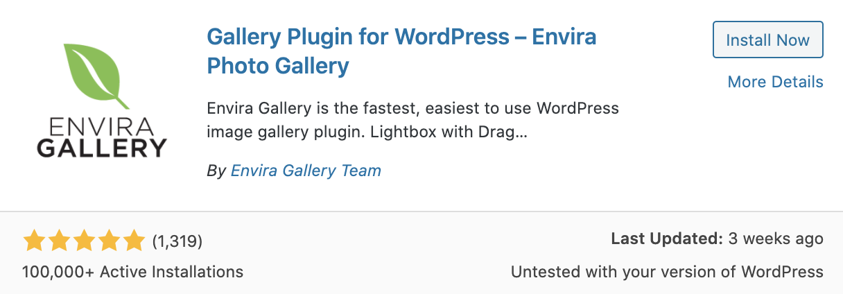 Setting up a gallery plugin in WordPress CMS