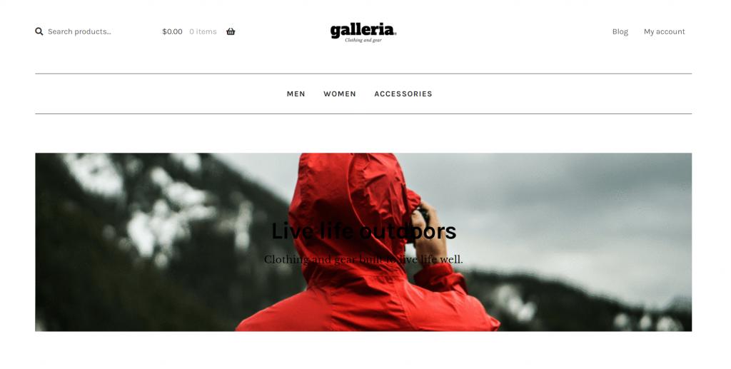 Galleria WordPress eCommerce Theme