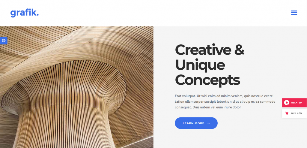 Grafik WordPress Portfolio Theme