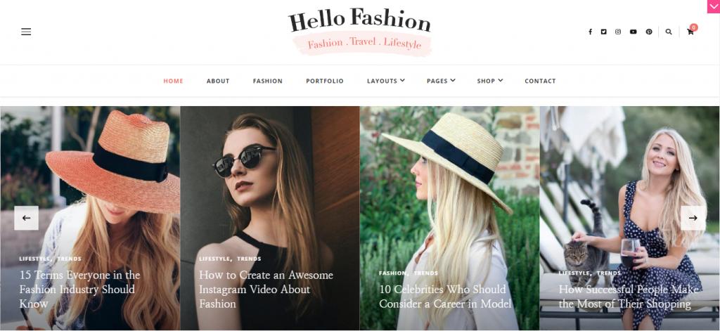 Hello Fashion Free WordPress Blog Theme