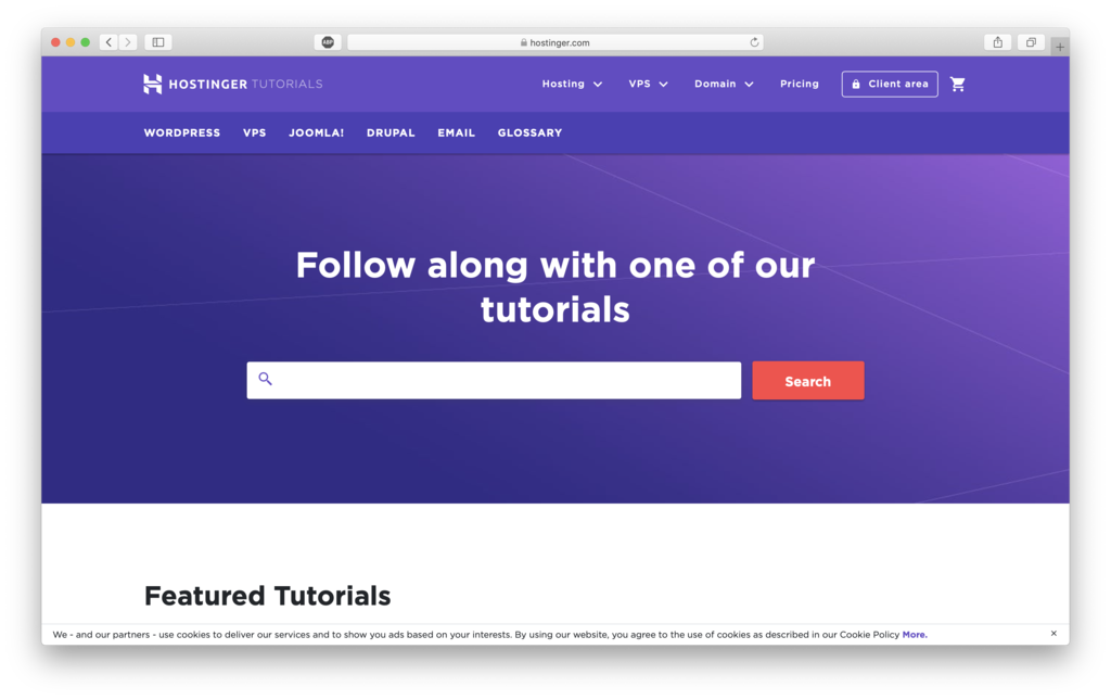 hostinger tutorials to help users that are new to wordpress