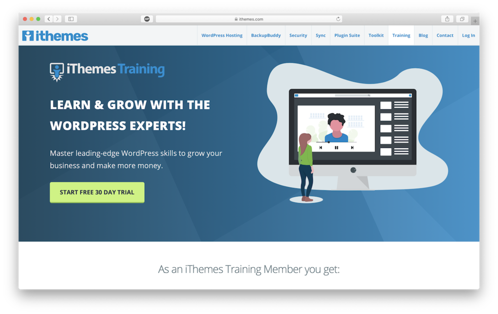 ithemes website to learn wordpress