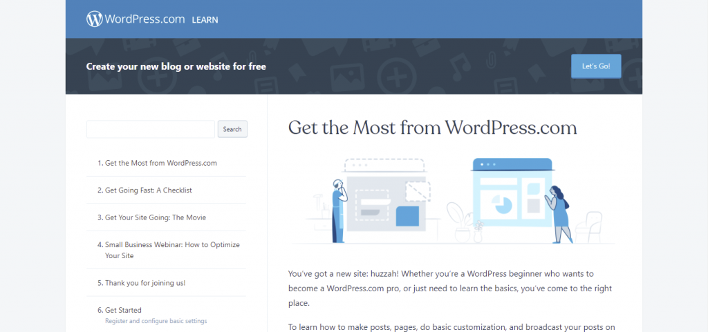 Official WordPress Lessons page