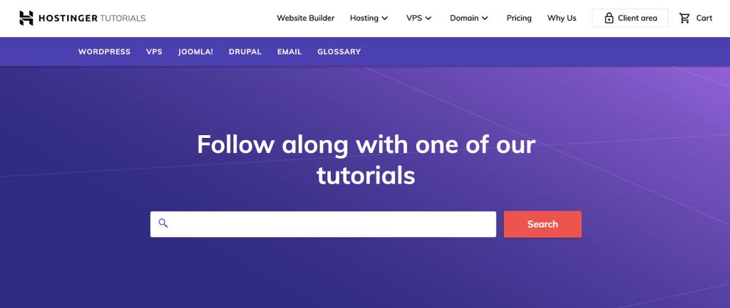 Hostinger tutorials platform for learning WordPress