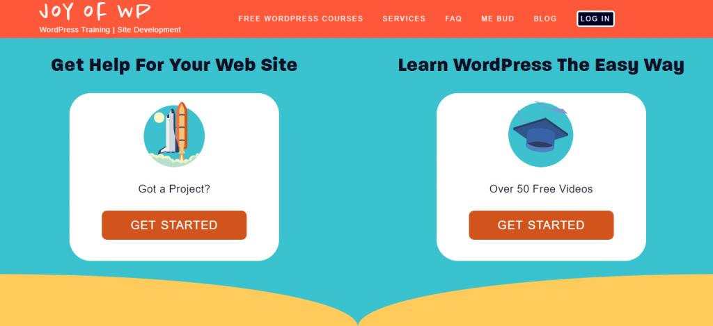 Joy of WP platform for learning WordPress