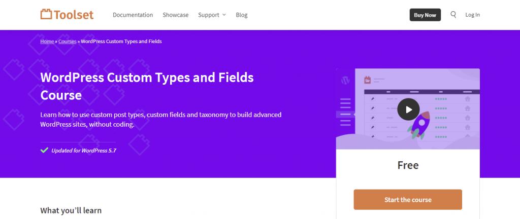 Toolset platform for learning WordPress