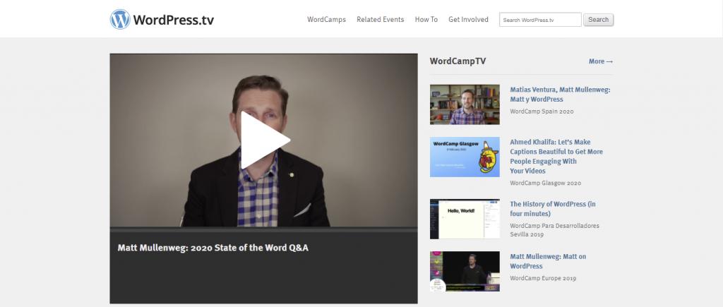 WordPress TV platform for learning WordPress
