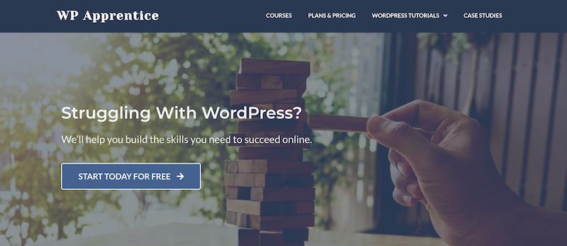 WP Apprentice platform for learning WordPress