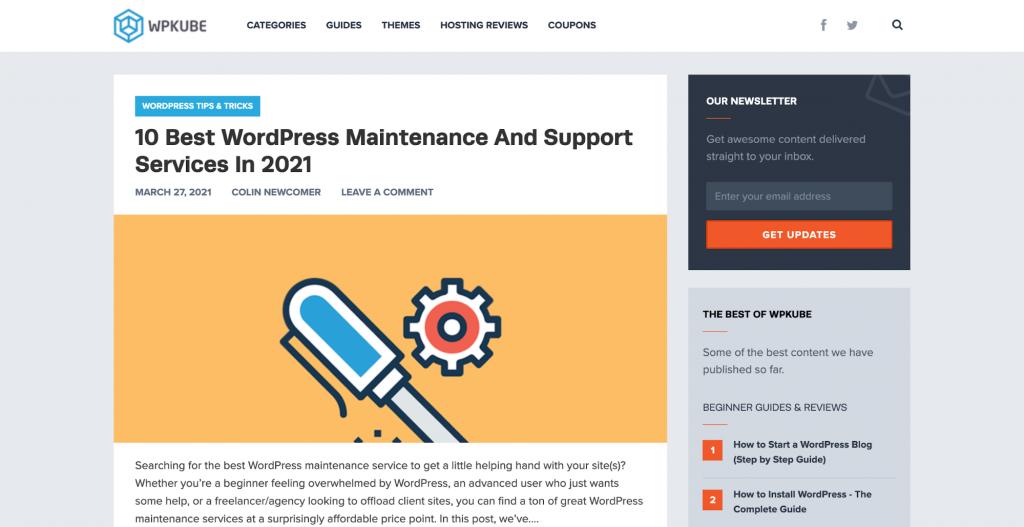 WPCube platform for learning WordPress