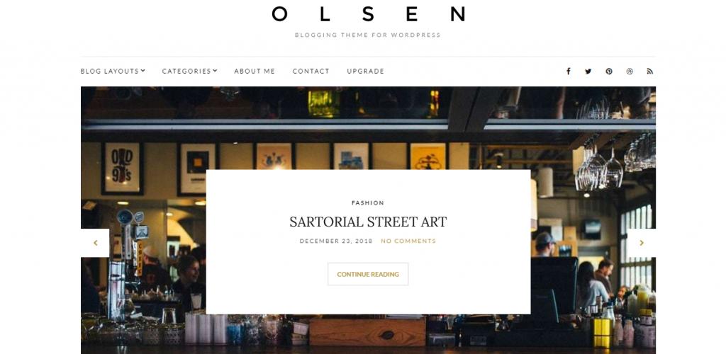 Olsen Light Free WordPress Blog Theme