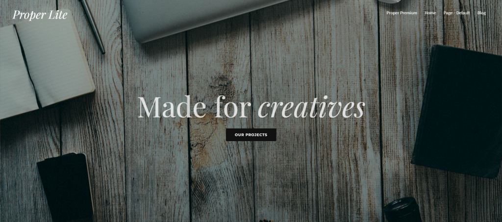 Proper Lite WordPress Portfolio Theme