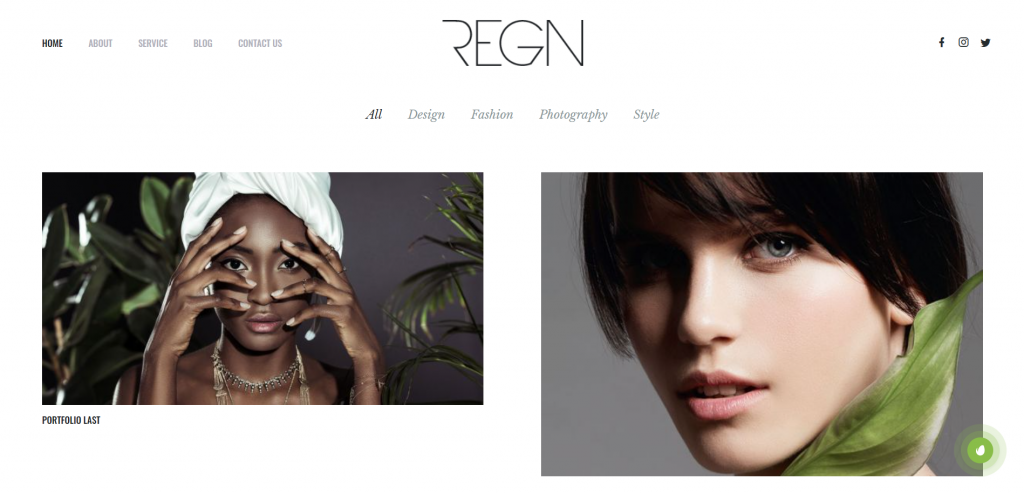 Regn WordPress Portfolio Theme