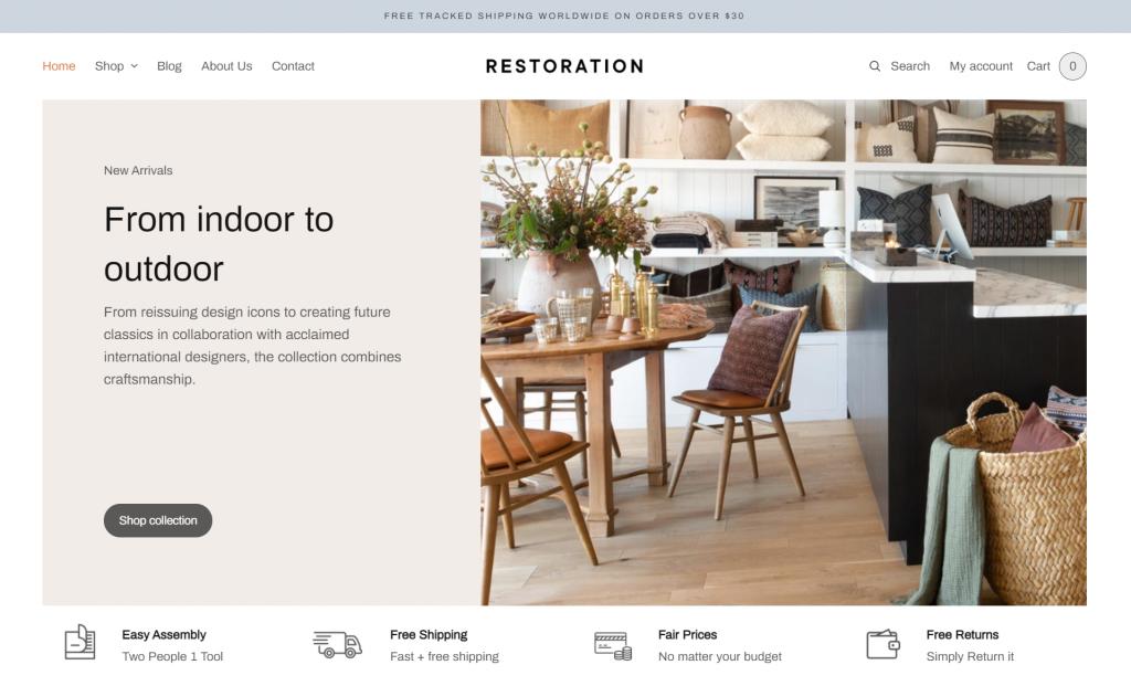 Restoration WordPress eCommerce Theme