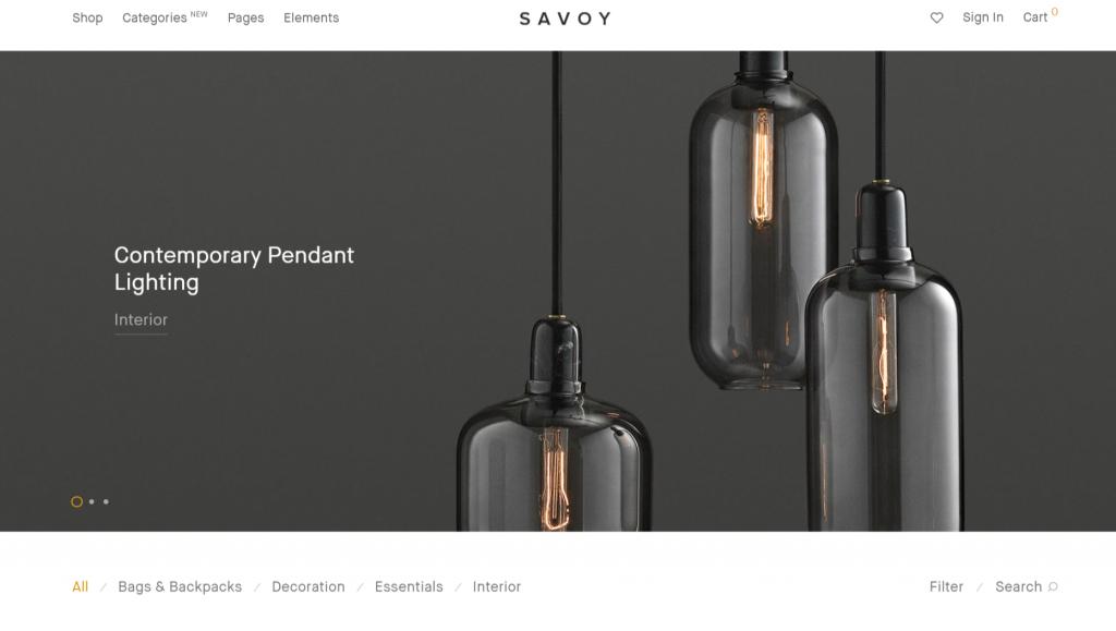 Savoy WordPress eCommerce Theme
