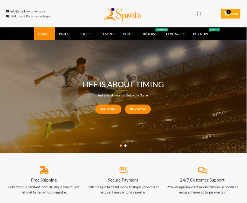 SparkleStore WordPress eCommerce Theme