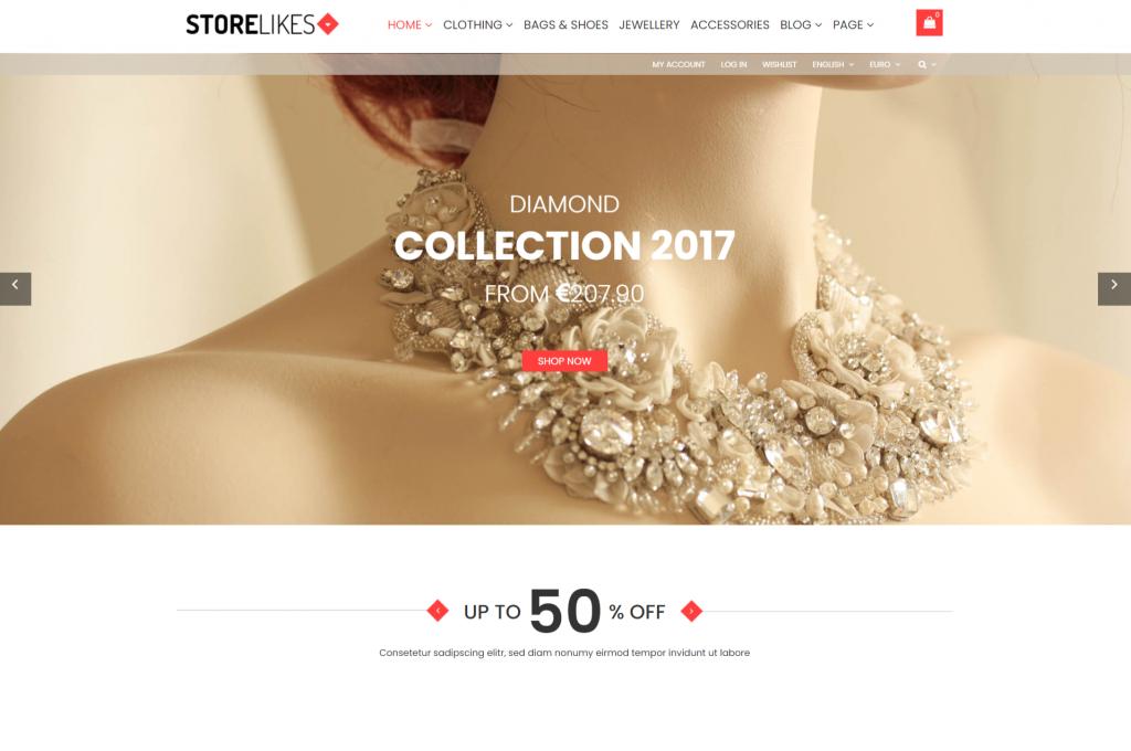 Storelikes WordPress eCommerce Theme