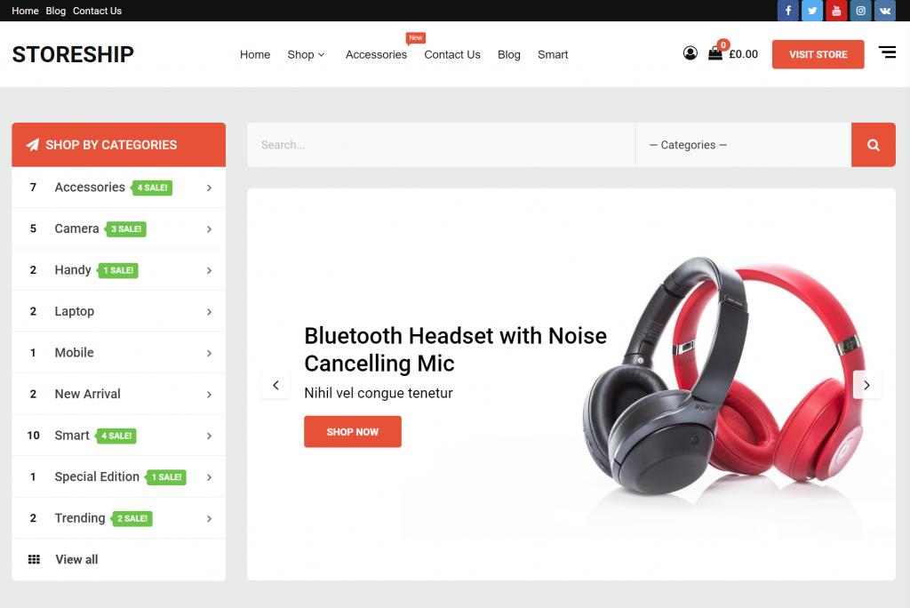 Storeship WordPress eCommerce Theme
