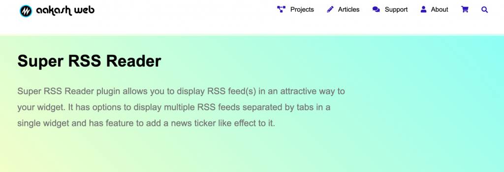 Super RSS Reader Plugin