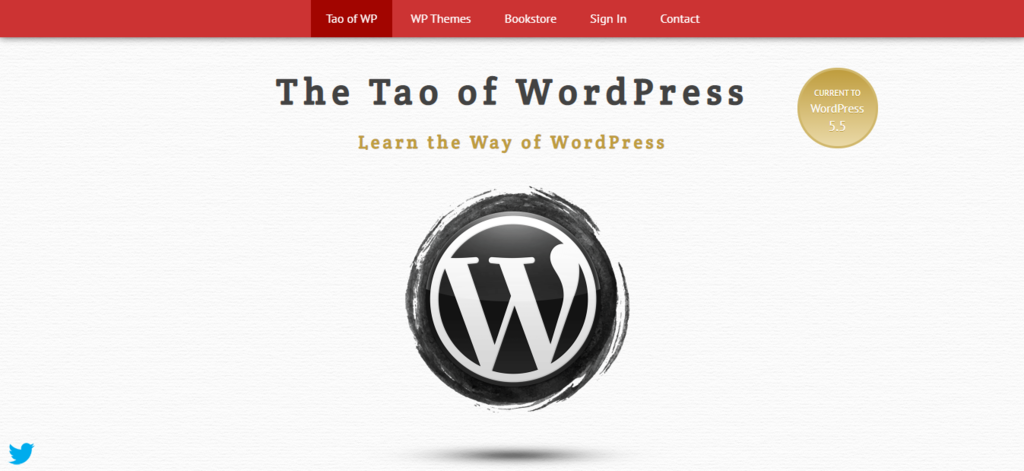 The tao of wordpress landing page