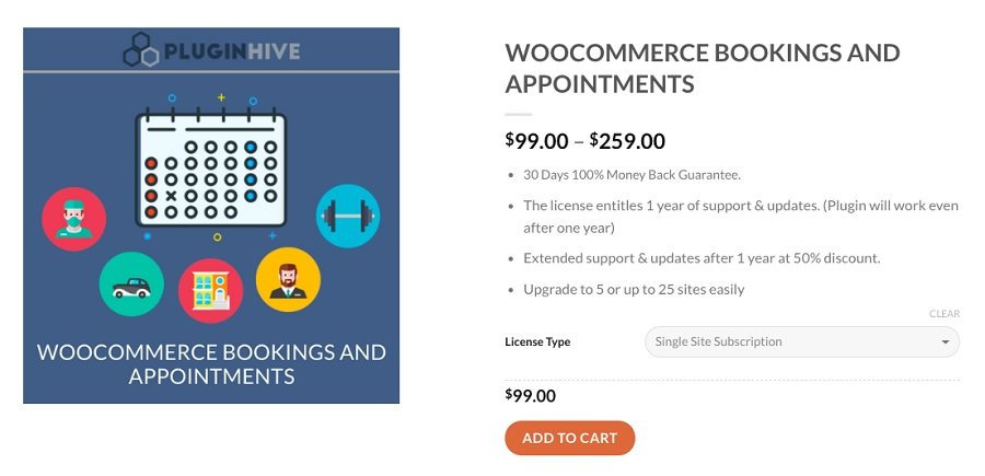 woocommerce bookings appoinments wordpress booking plugin