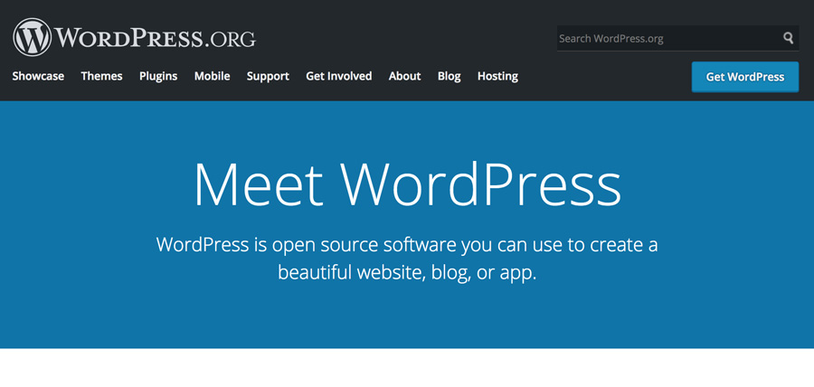 WordPress.org Home Page