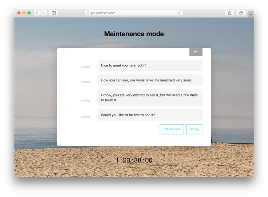 WordPress Maintenance Mode Enabled