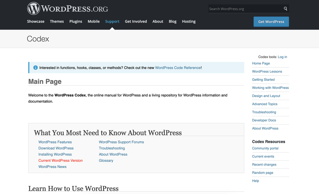 wordpress.org wordpress tutorial site