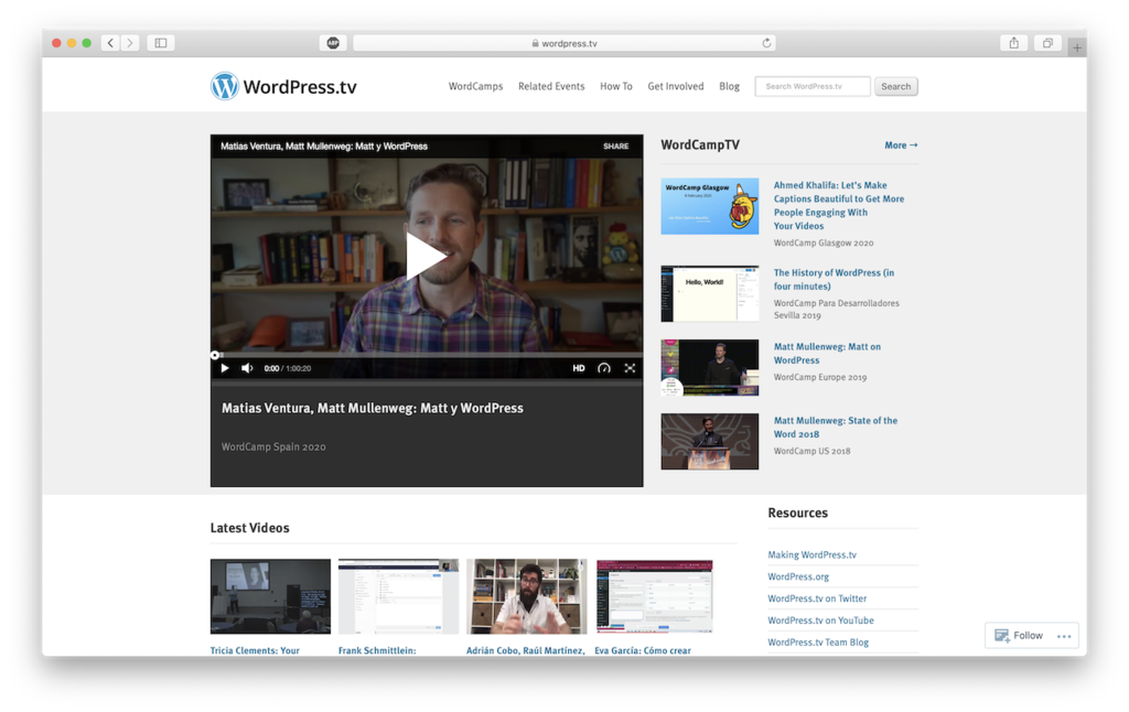 wordpresstv wordpress tutorial site