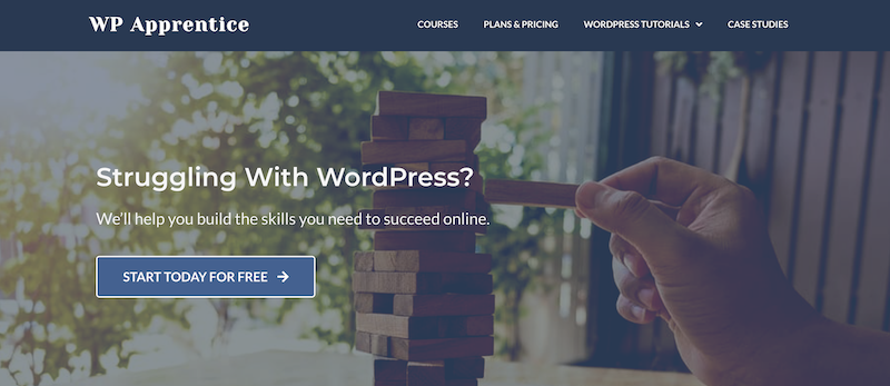 WPapprentice website to help you learn WordPress