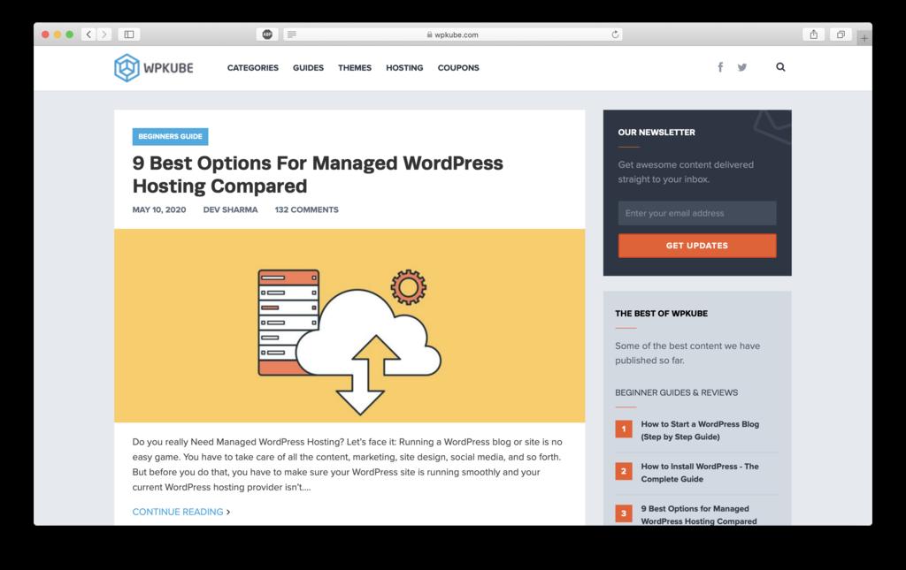 WPkube website to learn WordPress