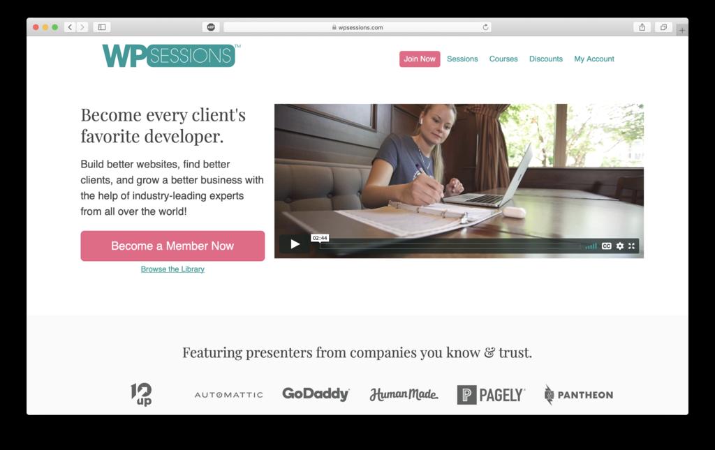 WPsessions website to help get new WordPress users help