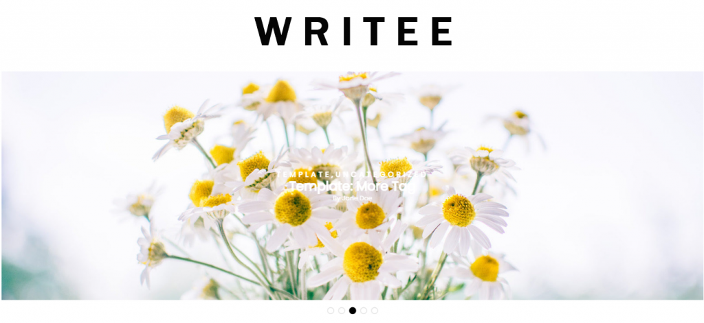 Writee Free WordPress Blog Theme