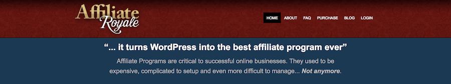 Affiliate Royale wordpress affiliate plugin
