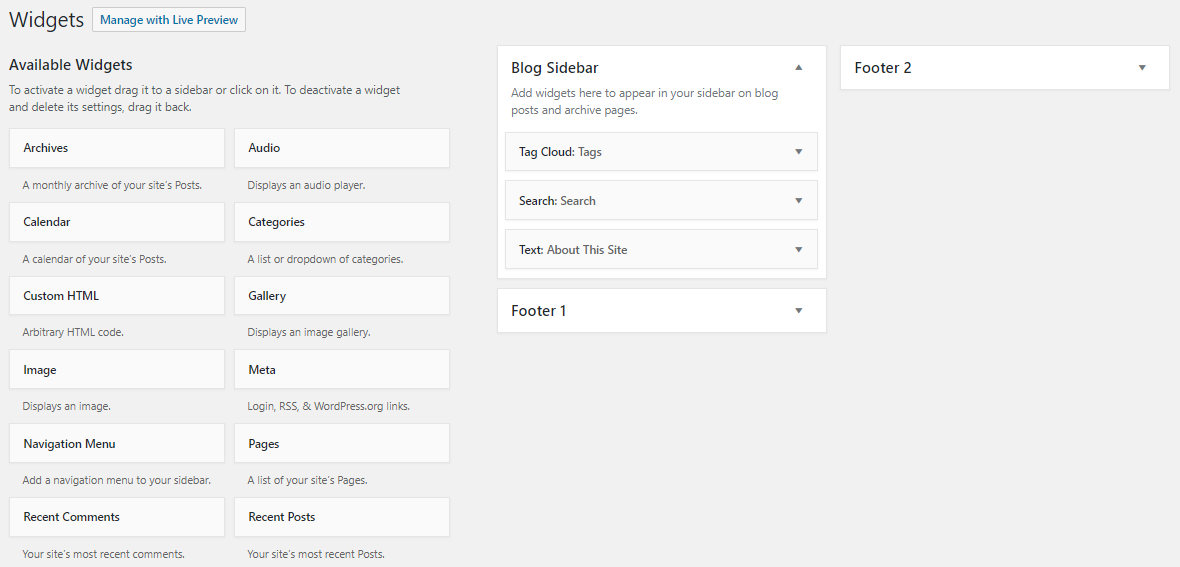 Show WordPress tags in Tag Cloud Widget