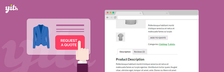 YITH WooCommerce Request a Quote plugin demo screenshot.