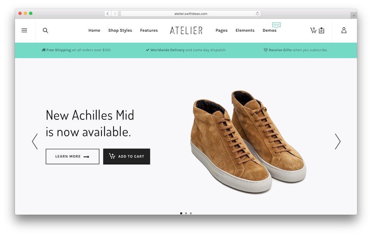 Atelier WooCommerce Theme