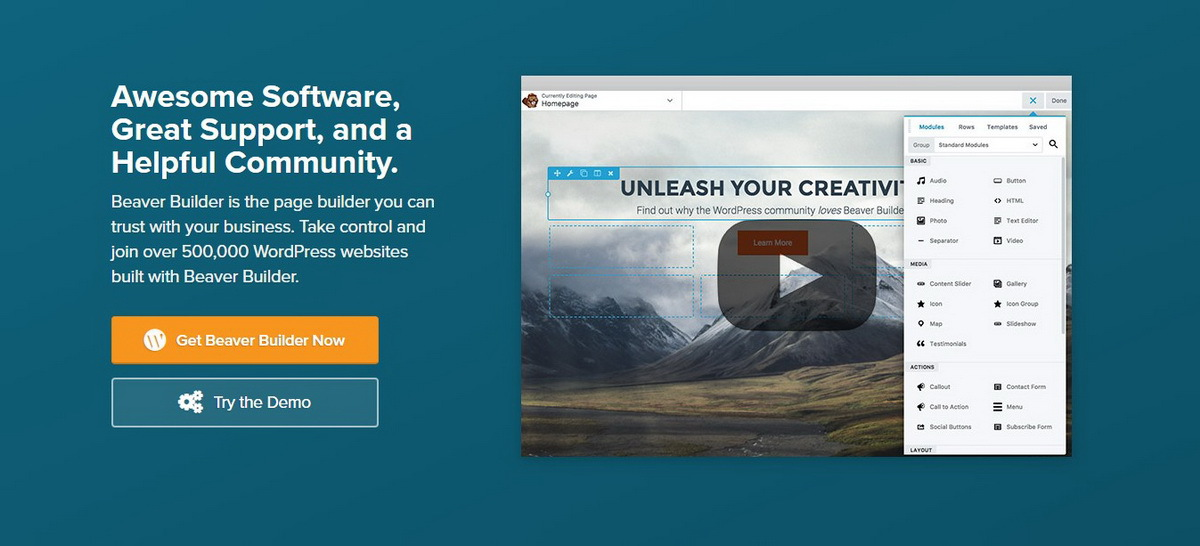 Beaver Builder WordPress Page Builder demo screenshot