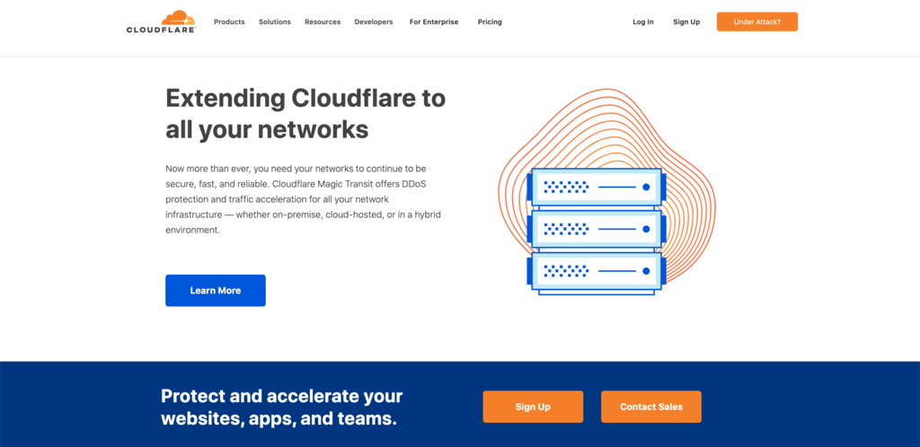 Cloudflare's main homepage.