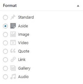format taxonomy