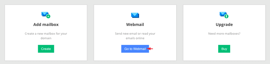 Accessing the webmail interface