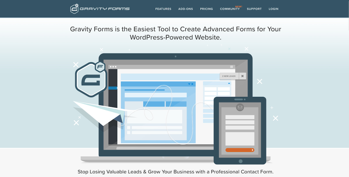 Gravity WordPress Contact Form Plugin