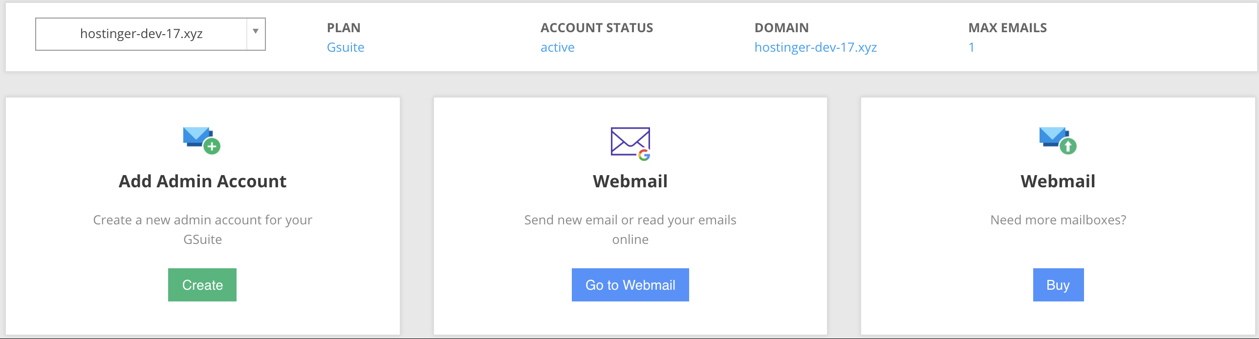 Creating an admin email account using GSuite