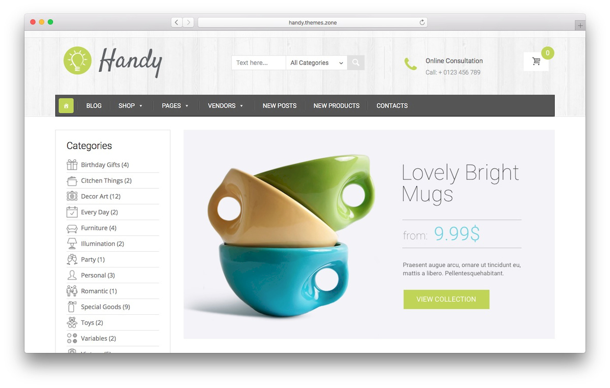 handy WooCommerce Theme