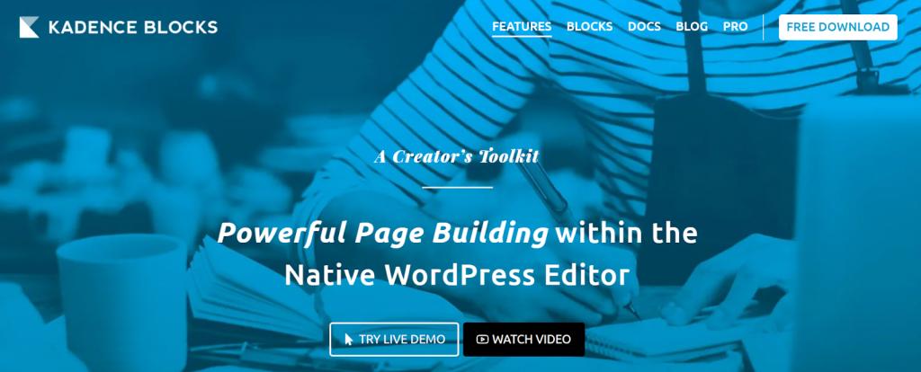 Gutenberg by kadence Blocks WordPress Page Builder