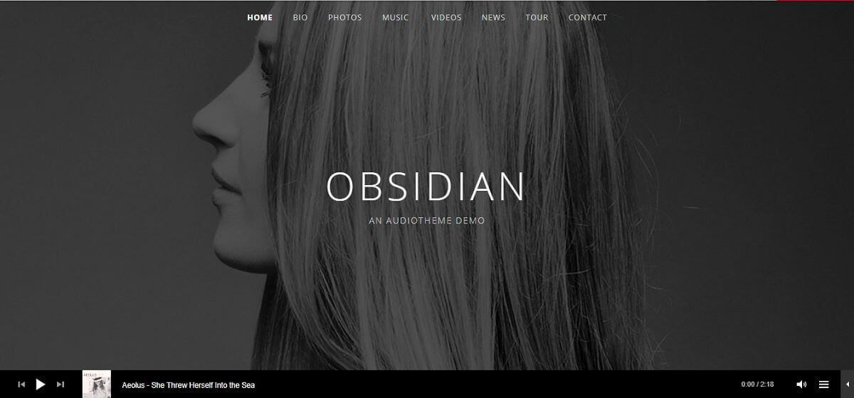 obsidian podcast theme homepage