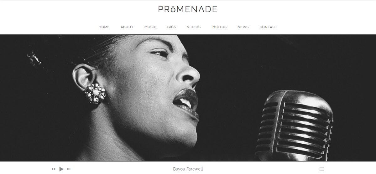 promenade podcast theme homepage